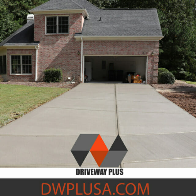 New Driveway with the best concrete contractor in town. Driveway Plus
