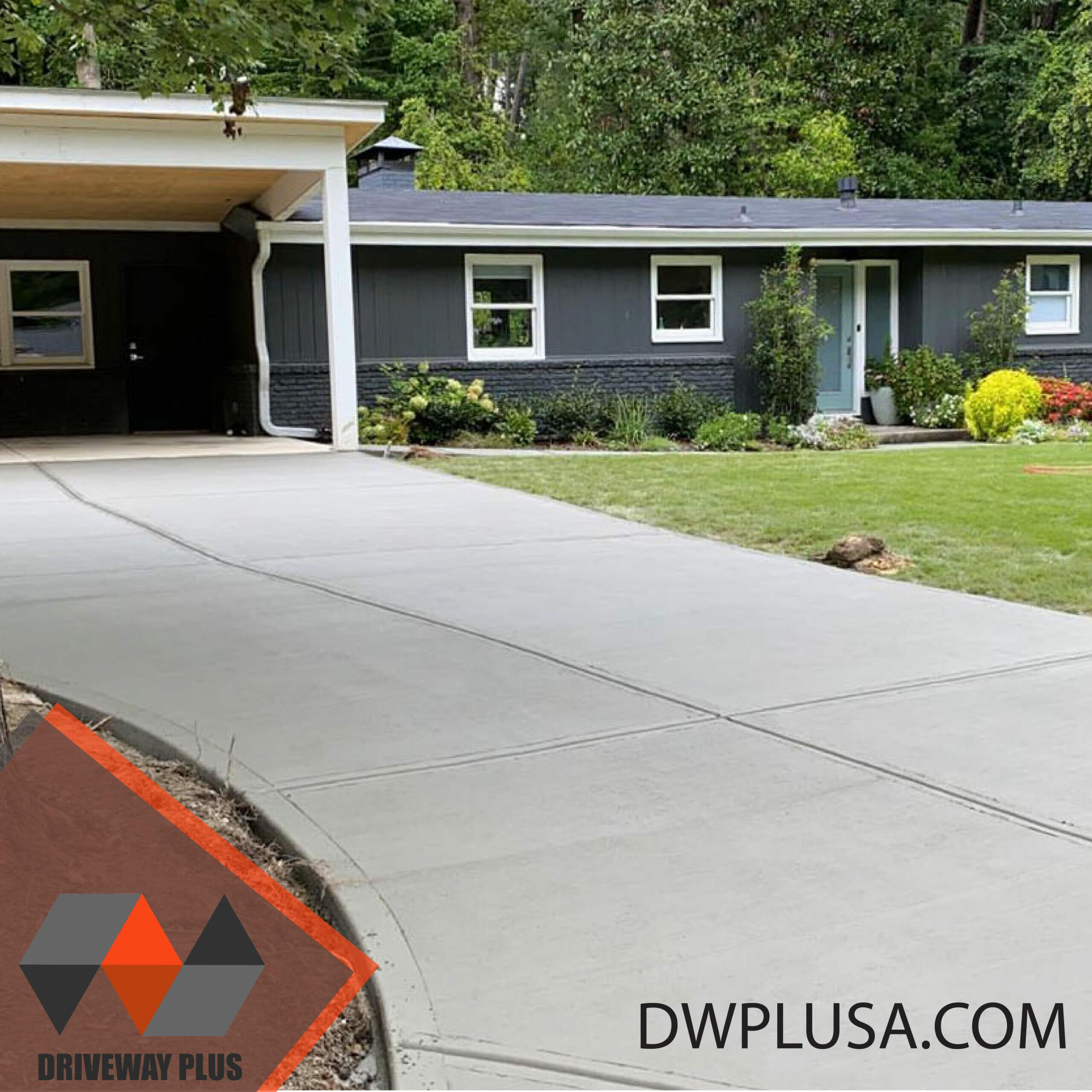 Driveway with a dark gray house in Atlanta GA