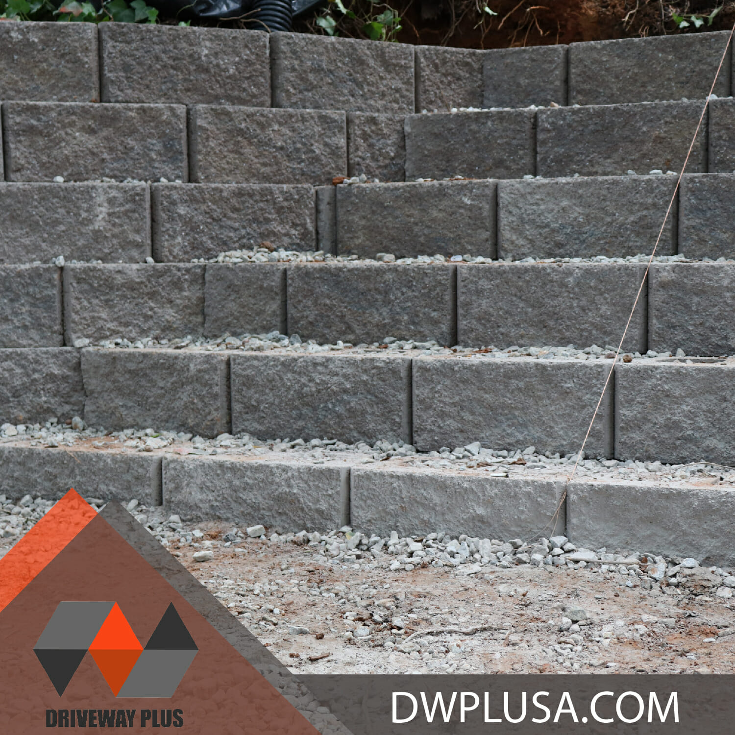 Steps with retaining Wall