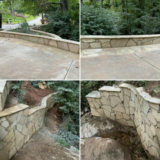 Retaining wall to protect the creek