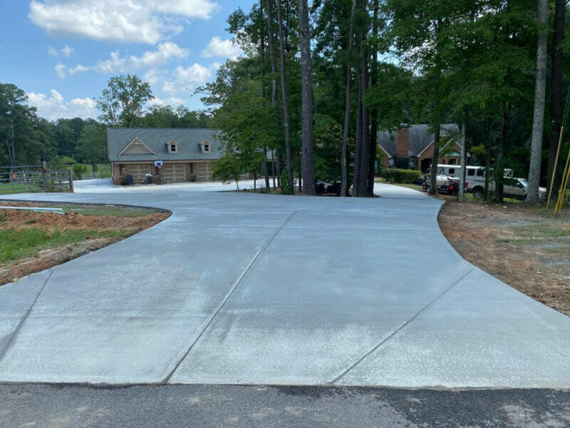 Driveway repair and driveway replacement finished in Acworth, Georgia.